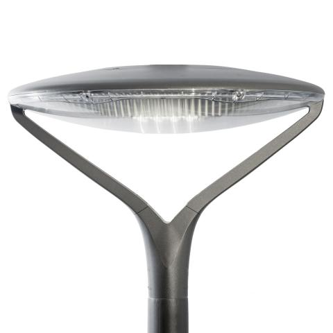 The Oyo luminaire perfectly integrates urban areas, from residential streets, urban roads to bike paths and car parks.