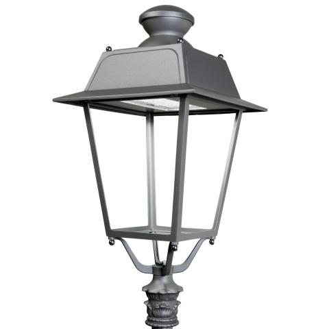 The Valentino LED street lamp offers energy efficiency and provides a sense of well-being in urban areas.