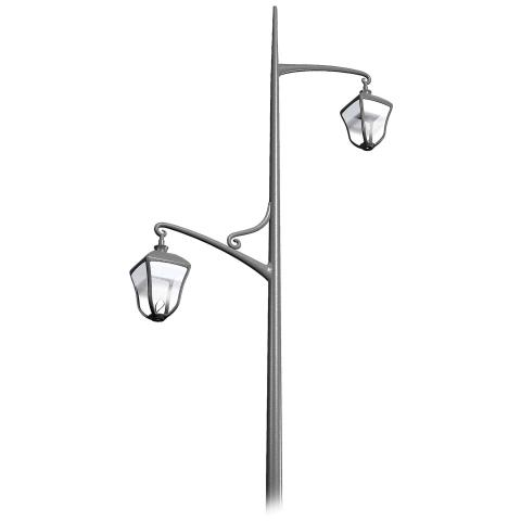 The STYLAGE bracket offers an elegant neoclassical design to combine with the STYLAGE luminaire.