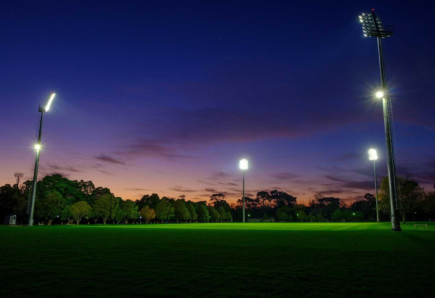 OMNISTAR sports lighting solution eliminates light spill at Danie Craven rugby field for good community relations
